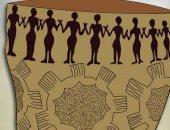 شاهد تصميم قبل 7 آلاف سنة على قطعة فخار أثرية يشبه كورونا.. اعرف الحكاية