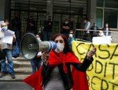صور.. وقفة احتجاجية للعاطلين عن العمل بإيطاليا للمطالبة بمعونات من الحكومة