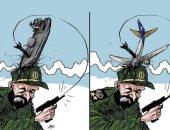 كاريكاتير صحيفة سعودية.. إيران تطلق صواريخها لزعزعة أمن المنطقة
