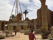 س وج.. متى يتم الانتهاء من مشروع ترميم 29 تمثالا لكباش الأقصر؟