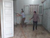 صور.. غلق وتعقيم وحدة شبرا النخلة المحلية بالشرقية بعد ظهور إصابة بكورونا