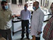 تشغيل جهاز PCR لتحليل فيروس كورونا بمستشفى بنى سويف الجامعى