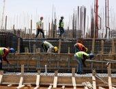 عمال مصر يواصلون العمل بالعاصمة الإدراية الجديدة بضوابط صحية لمواجهة كورونا