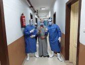 """صور.. مغادرة 7 حالات بمستشفى عزل بنى سويف بعد تعافيهم من """"كورونا"""""""