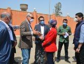 """""""الهجان"""" يستقبل وزيرة البيئة لتفقد المحطة الوسيطة بشبرا الخيمة ومدفن العبور"""