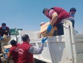توزيع 1400 كرتونة أغذية على أهالى سيناء والقرى الفقيرة بالقنطرة شرق.. صور