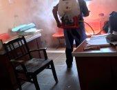 صور.. رش وتطهير المنشآت الحكومية والصحية والشوارع بشوارع البحيرة لمواجهة كورونا