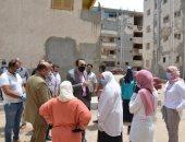 نائب محافظ الإسماعيلية: يتابع أعمال ترميم 8 عمارات سكنية بمساكن الإحلال.. صور