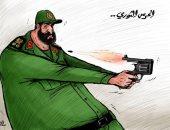 كاريكاتير صحيفة إماراتية.. النظام الإيرانى ينتحر سياسيا