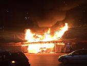 حريق هائل فى أحد أسواق المحلة..والحماية المدنية تسيطر على النيران ..صور