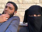 """آسر ياسين باللحية وعلا رشدى بالنقاب فى كواليس مسلسل """"بـ100 وش"""""""