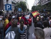 احتجاجات فى إسبانيا ضد الحكومة بسبب طوارئ كورونا.. فيديو