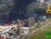 فيديو.. انفجار يهز مصنعا كيميائيا بالقرب من البندقية فى إيطاليا