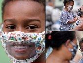 كمامات شفافة تساعد ضعاف السمع على التواصل فى البرازيل