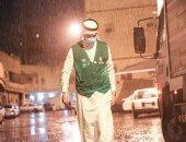 صور.. هطول أمطار على مكة المكرمة والمدينة المنورة فى ليلة 23 رمضان