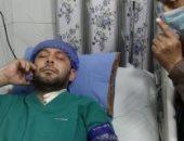 """الطبيب البطل محمد سامى: """"أرى ابنى يحيى ببصيرتى لا ببصرى"""".. فيديو"""