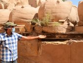 صور.. الأثرى صلاخ الماسخ مشرف مشروع كباش الكرنك يكشف تفاصيل إنقاذها