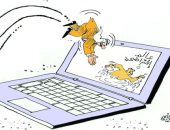 كاريكاتير صحيفة عمانية.. الانفصال عن الواقع بسبب دخول عالم السوشيال ميديا