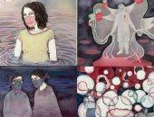 شاهد. فنانة هندية ترسم للتخلص من ألم فقدانها لزوجها فى زمن كورونا