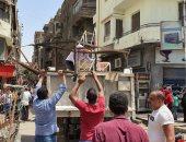 محافظة الجيزة ترفع إشغالات شوارع الصناديلى وسعد زغلول وأحمد ماهر