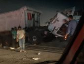 قارئ يشارك بصور لحادث أعلى دائرى المعادى قبيل الإفطار بربع ساعة