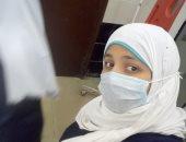 الجيش الأبيض.. أية ممرضة على خط مواجهة كورونا بمستشفى كفر صقر المركزى بالشرقية