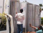 توفير 3 بوابات للتعقيم بمبنى ديوان عام محافظة شمال سيناء .. صور