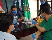 صور وفيديو .. العاملون بديوان محافظة الدقهلية يخضعون للفحص بعد إصابة المحافظ