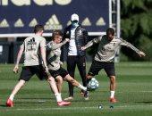 هازارد يشارك فى مران ريال مدريد الجماعى استعداد لعودة الدورى الإسبانى