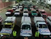 """""""مستقبل وطن"""" بقنا يدفع بالسيارات المحملة بالمساعدات الغذائية في ليلة القدر"""