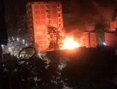 المعمل الجنائى يحدد أسباب حريق مخزن إكسسوارات سينمائية بالهرم