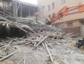 شرطة الجيزة تؤمن حملة لإزالة الأبراج السكنية المخالفة بالحوامدية