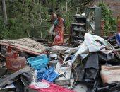 أثار كارثية لإعصار أمفان فى الهند