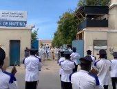 الشرطة الصومالية تعزف الموسيقى أمام مركز للحجر الصحي لتكريم الأطباء.. فيديو