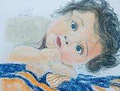 قارئ يشارك برسومات فنية تبرز موهبته فى رسم البورتريه