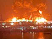 حريق هائل يلتهم مستودع فى سان فرانسيسكو وجهود لـ125 رجل إطفاء.. فيديو وصور