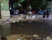 شكوى من تراكم القمامة المختلطة بمياه الصرف الصحى فى شارع فوزى بروض الفرج