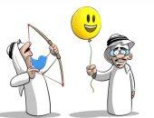 كاريكاتير صحيفة سعودية.. سهام تويتر مصوبة نحو فرحة العيد