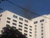 النيابة تنتدب المعمل الجنائى لمعاينة حريق مستشفى الهلال في رمسيس