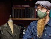 كمامة على الموضة.. خياط إنجليزى يصمم أغطية للوجه مقابل 300 دولار تتماشي مع الأناقة