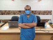 مستشفى قها للحجر الصحى تشكر رئيس الفريق الطبى لأدائه عمله رغم تعرض والده لحادث