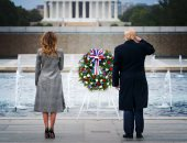 ترامب يحتفل بيوم المحاربين بمقبرة أرلينجتون فى أول ظهور رسمى بعد الانتخابات