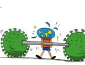 كاريكاتير صحيفة كويتية.. العالم غير قادر على تحمل جائحة فيروس كورونا