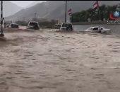 تعطيل حركة السير فى الإمارات بسبب غزارة هطول الأمطار.. صور