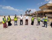 شباب شمال سيناء يواصلون حراسة شاطئ العريش بتطبيق الإجراءات الاحترازية