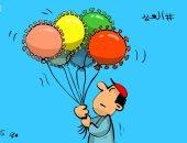 كاريكاتير كويتى: عيد الفطر دون إحتفالات بسبب كورونا