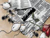 كاريكاتير صحيفة سعودية.. الصحافة الورقية تواجه الاندثار تحت سطوة التكنولوجيا