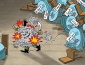 كاريكاتير صحيفة إماراتية.. مؤتمرات إنهاء الحرب السورية تنتهى للاشيء