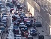 قارئ يشكو تراكم مياه الصرف الصحى والقمامة بشارع محطة مترو حلمية الزيتون