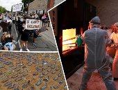 صور.. العالم هذا الصباح.. احتجاجات فى أمريكا بسبب قتل شرطى لرجل أسود خنقا بولاية مينيسوتا.. المكسيك تستخدم الأفران لحرق جثث ضحايا كورونا.. والبرازيل تحفر آلاف المدافن لاحتواء وفيات كوفيد 19